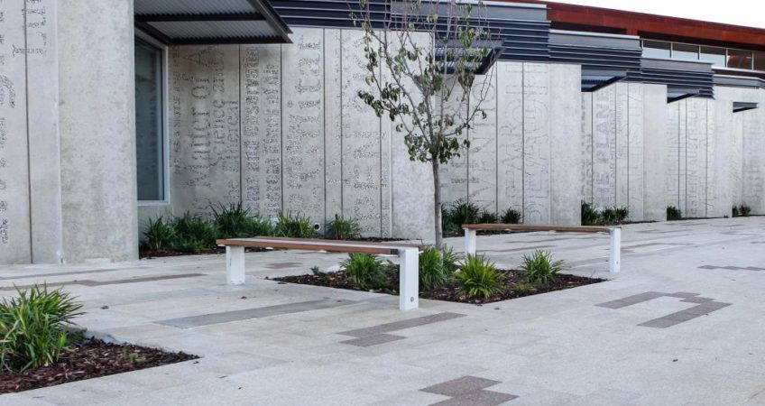 Architectural walls & landscaping
